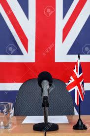 Microphone Bureau - royaume uni bureau de la conférence sur le thème avec microphone