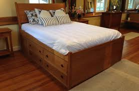 biggest bed ever the ultimate cherry storage bed vermont woods studios