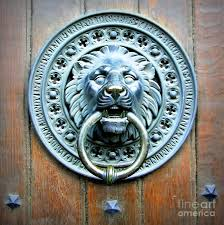 lion door knocker in norway photograph by carol groenen