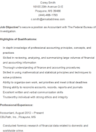 Law Enforcement Resume Objective Examples by Sample Resume For Forensic Accountant Templates