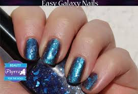 teal thursday easy galaxy nails