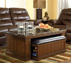 Coffee Table With Nesting Stools - ottomans coffee table with stools underneath storage cube coffee