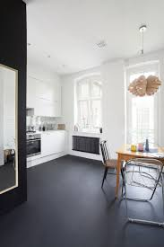 great white minimalist scandinavian kitchen design with light wood