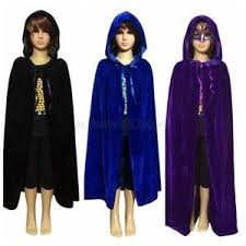 cool kids girls boys hooded velvet cape cloak halloween fancy