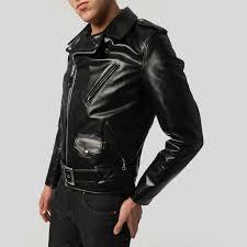 mens motorcycle leathers schott 613sh men u0027s horsehide motorcycle jacket brooklyn denim co