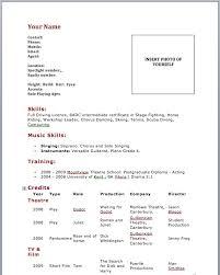 theatrical resume format resume format beautiful resume template
