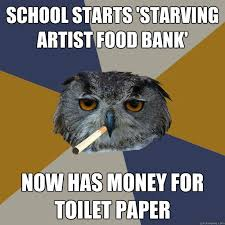 Art Owl Meme - art student owl memes quickmeme