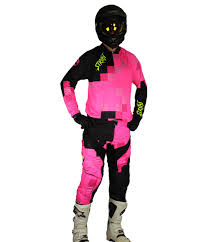 black motocross gear pxl pink and black mx set strikt gear company