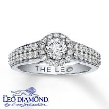 leo engagement rings jewelers leo engagement ring in 14k white gold 7 8