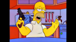 homer simpson the simpsons homer and his gun youtube