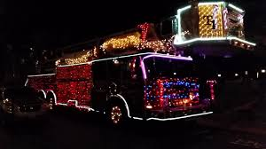 Fire Trucks Decorated For Christmas Musical Fire Truck Ft Sparky The Fire Dog Youtube