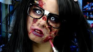 Halloween Special Effects Makeup Ideas by Zombie Nerd Makeup Youtube