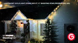 shooting star christmas lights lightshow icicle light string w 5 ct 11 shooting star frozen fire