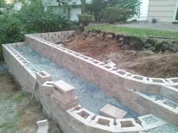 cheap retaining wall ideas what caused movement in new retaining