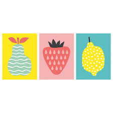 posters frames pictures ikea trilling poster set of trio fruits