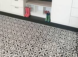a basement floor makeover using a tile stencil stencil stories