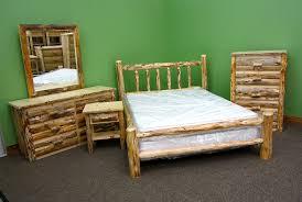 Rustic Bedroom Furniture Suites Amazon Com Midwest Log Furniture Rustic Log Bed King Kitchen