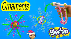 Simple Homemade Christmas Ornaments To Make Shopkins Diy Simple Craft Holiday Gifts Snowflakes Ornaments With