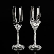 wedding glasses his and hers wedding glasses set handmade by wedding mate on zibbet