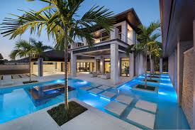 home with pool modern house with swimming pool pictures florida custom home