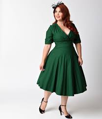 1950s plus size dresses clothing pinup fashion