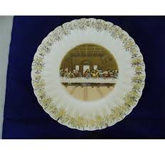 lord s supper plates antique supper prayer 24 kt gold trimmed plates
