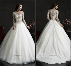 vintage wedding dresses with sleeves 2015 new arrival vintage wedding dresses with sleeve illusion