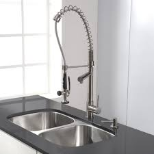 iron commercial style kitchen faucet centerset single handle pull