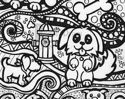 dog coloring etsy