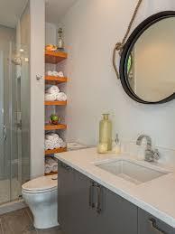 Bathroom Shelves Houzz - Bathroom shelf designs