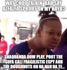 Alfalfa Meme - black girl wat meme imgflip