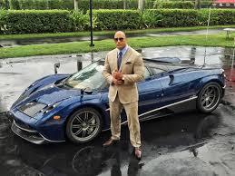 The Rock Meme Car - blue sports car will the rock ever finish buttoning his sleeve