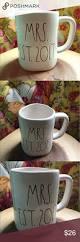 rae dunn mug mrs est 2017 wedding big letters farmhouse chic