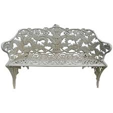 garden bench fern pattern antique cast iron for sale at 1stdibs