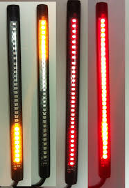 Amber Led Strip Lights by Amazon Com Kingshow 32 Smd Led Flexible Turn Singal Brake Strip