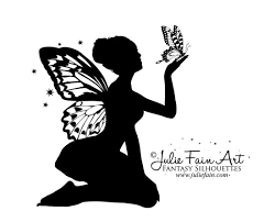 cool silhouette with butterfly design by julie fain