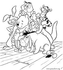 beautiful coloring winnie pooh friends