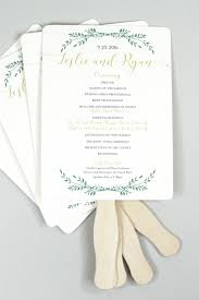 wedding program fans gold script with greenery wedding program fans fully