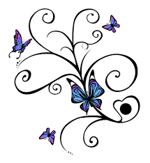 collection of 25 n butterfly design