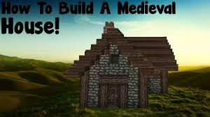 minecraft tutorial how to build a medieval small house youtube