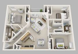 three bedroom floor plans 20 designs ideas for 3d apartment or one storey three bedroom