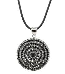 swarovski chain necklace images Large oversized hematite black swarovski crystals circle necklace jpg