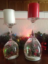 wine glass christmas ornaments diy wine glass snow globes anika burke