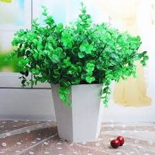 artificial plants 5 bouquets of artificial plants set lifesome fresh green plants