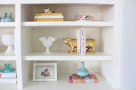 how to decorate a bookshelf built in bookshelf decorating ideas tessie fay