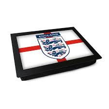 Englands Flag Three Lions England Flag Lap Tray L0230 Cushioned Lap Trays By