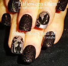 3 nail art tutorials diy halloween nails cat u0026 witch youtube