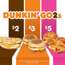dunkin donuts doubles on value with launch of new dunkin go2s