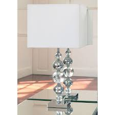 crystal table lamp with double unique lmapstand part of furniture