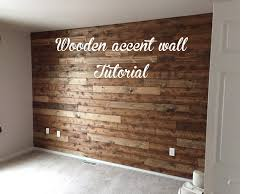 Brown Accent Wall by Wooden Accent Wall Tutorial